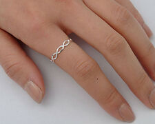 Silver Tiny Infinity Ring Sterling Silver 925 Plain Best Deal Jewelry Size 4