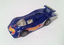 Hot Wheels Blue Racecar - Vintage 1983 Malasia Blue Mattel Diecast Car