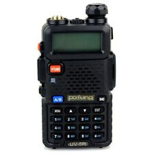 Baofeng UV5R Walkie Talkie 5W 128CH Mobile 2-Way Radio UHF+VHF LCD DTMF +Keypad