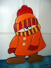 HAND MADE, HAND PAINTED FROSTY FRIEND CHRISTMAS YARD ART DECORATION