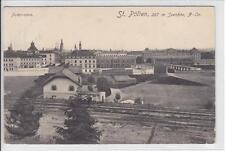 AK St. Pölten, Panorama, Bahn, 1908