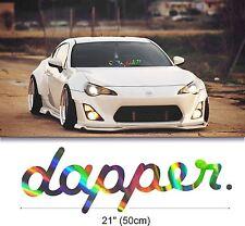 "21"" Dapper oil slick rainbow windshield neo chrome windscreen car decal sticker"