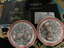 VERSACE LA MER MEDUSA  ETOILES  COASTERS SET OF 2 Rosenthal New Retail $200 SALE