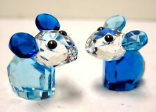BOBBY & PIERRE PIONEER LOVLOTS MICE SET 2 CRYSTAL PIECES 2014 SWAROVSKI #5004630