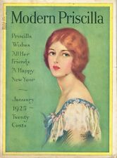 1920s Woman's Magazine The Modern Priscilla January 1925 48 Pages Original