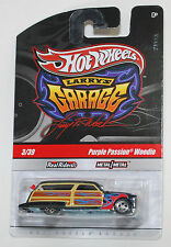 Hot Wheels LARRY'S GARAGE PURPLE PASSION WOODIE BLACK REAL RIDERS 1:64
