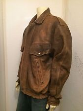 Men's Excelled Brown Leather Jacket Size XL Tall