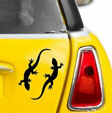 2 x GECKO CAR DECAL VINYL STICKER TRIBAL LIZARD DESERT SCALES PANEL GRAPHIC