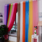 7 Solid Colors Valance Floral Tulle Voile Door Window Curtain Drape Panel Sheer