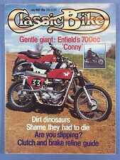 CLASSIC BIKE - July 1982 - 350cc Royal Enfield CO - 250cc NSU Sportmax