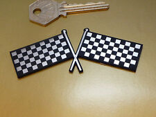 Crossed Chequered Flag Self Adhesive Car Motorcycle Badge Racing Race Rally Bike