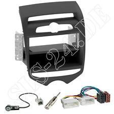 HYUNDAI ix20 Doppel-DIN Autoradio Blende+Fach schwarz Einbaurahmen Adapterkabel