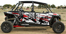 Polaris 1000 rzr 4 Red Schredder Graphic Kits Decal Wraps RZR 1000 4 Door Graph