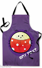 PERSONALISED CARTOON LADYBIRD CHILDRENS APRON BAKING PAINTING WATER ARTS & CRAFT