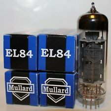 Matched Quad of Mullard EL84 / 6BQ5 Reissue tubes, NEW !