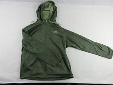 ADIDAS Men's CLIMAWARM Fleece Lined Zip Up Hoodie Jacket Charcoal Olive Size 2XL