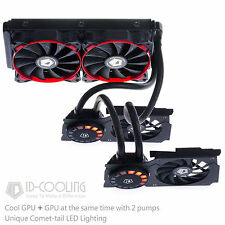 ID-COOLING AIO Water Cooler For Two GPUs GTX1080/1070,+LED Lighting,Nvidia & ATI