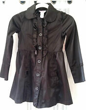 Small Candie's Goth Lolita Ruffle Trench Silky Jacket Coat Bows Polka Dot  018