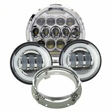 "7"" CREE LED Daymaker Headlights Bulb Passing Lights For Harley Davidson Touring"