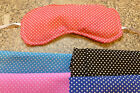 WHEAT BAG-EYE MASK -MICROWAVE OR CHILL- POLKA DOT FABRIC - UNSCENTED OR LAVENDER