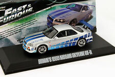 Brian's Nissan Skyline GT-R Año de construcción 1999 Fast and Furious Movie 1:43 GreenLight