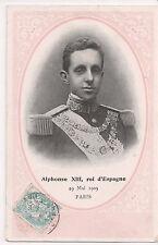Vintage Postcard King Alfonso XIII of Spain