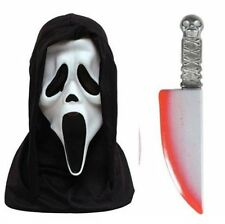 Official Scream Mask & Bloodied Blade Pack Halloween Fancy Dress Kit P7829