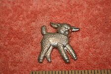 Vintage Marked Sterling Silver Lamb Shaped Pin Brooch