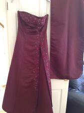 JORA Collection Burgundy Long Evening/ Bridesmaid Dress Size 8 & Wrap
