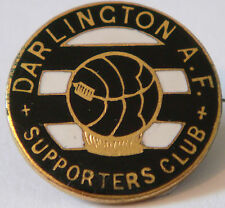 Darlington vintage supporters club badge faire parry b'ham brooch pin 26mm x 26mm