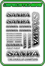 SANWA RC RADIO CONTROL STICKERS MT4 M12 SERVO RX TX CAR BUGGY ELEC GREY BLEND W
