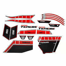 GENUINE YAMAHA SUPER TENERE XT1200Z RED WORLDCROSSER STICKER SET 23PF17C0U000
