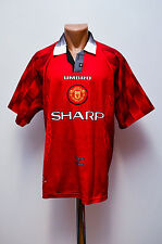 MANCHESTER UNITED ENGLAND 1996/1997/1998 HOME FOOTBALL SHIRT JERSEY UMBRO