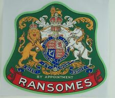 Ransomes Ajax Mark 2 Vintage Mower George VI Repro Catcher Decal
