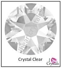 CRYSTAL CLEAR Swarovski 18ss 4.3mm Flatback Rhinestones 2088 Xirius 144 pcs