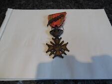 belle medaille militaire belge ww2croix militaire leopold 3 avec palme bronze