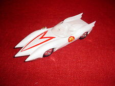 MACH 5 SPEED RACER WHITE 7+ INCHES LONG WHITE PLASTIC MODEL GO SPEED, VERY LITE