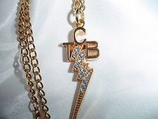 ELVIS PRESLEY  Small Rhinestone TCB Necklace