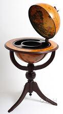 """Old World 18"""" Globe Hidden Home Hide A Bar Wood Pedestal New"""