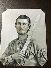Civil War Confederate Military Soldier With Sword TinType C683NP