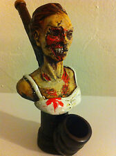 HANDMADE TOBACCO PIPE, Zombie Girl Design.