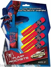 MARVEL AMAZING SPIDERMAN 4 POMPA razzi con lanciatore Schiuma Outdoor Giocattolo Air