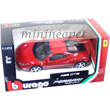 BBURAGO 18-36100 B FERRARI 488 GTB 1/43 DIECAST MODEL CAR RED