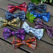 9 Packs mens paisley bowtie pretied clip on Wedding Neck bow tie tuxedo necktie