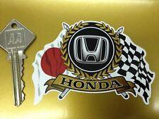 Honda drapeaux & scroll Autocollant voiture Sport Classique Civic S800 Integra Beat JAZZ NSX