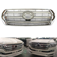 For Toyota Land Cruiser LC200 2016 Front Chrome Silvery Grille Grill Overlay