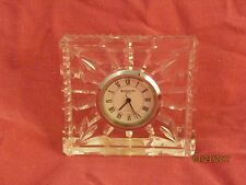 WATERFORD CRYSTAL GLASS TABLE CLOCK PERFECT FOR BATHROOM OR BEDSIDE TRAVEL