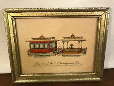 Vtg. Union Street Dummy & Car Framed Print (1880 Presidio to Barbary Coast 1906)
