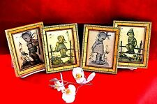 HUMMER  ANTIQUE 1945-50 (GERMANY) SET OF 4 pc / PLAQUES  w/  WOODEN FRAME