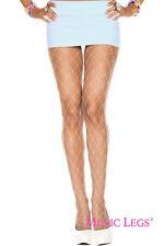 1-4PC Sheer Fishnet Large Diamond Netting Pantyhose Ravewear Clubwear Tights Set